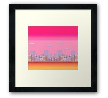 8-bit City Framed Print