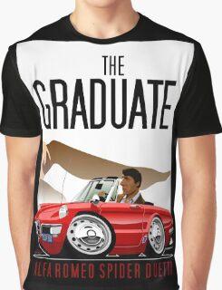 Alfa Romeo Duetto caricature from the Graduate Graphic T-Shirt
