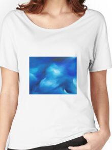 The moving sea - an original oil painting Women's Relaxed Fit T-Shirt
