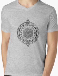 Geometric Rhombus Mandala  Mens V-Neck T-Shirt