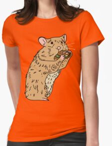 Hungry, Hungry Hamster Womens Fitted T-Shirt