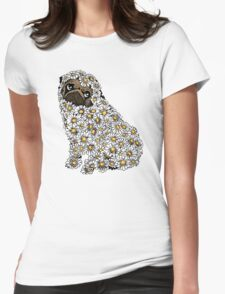 PUG DAISY Womens Fitted T-Shirt