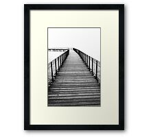 Boardwalk Black&White Photography Framed Print