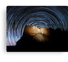 Star trails over Mount Rushmore National Memorial Canvas Print