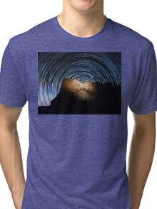 Star trails over Mount Rushmore National Memorial Tri-blend T-Shirt