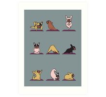 Frenchie Yoga Art Print