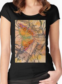 """""""Meadow Argus""""  Women's Fitted Scoop T-Shirt"""
