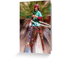 Stilts and hoops Greeting Card