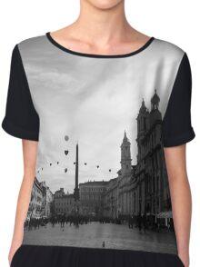 Piazza Navona  Chiffon Top