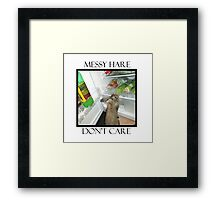 messy hare Framed Print