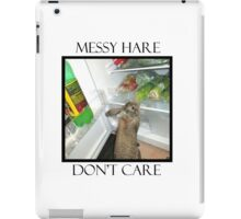 messy hare iPad Case/Skin