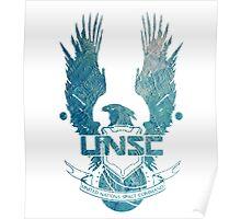UNSC Logo Blue Poster