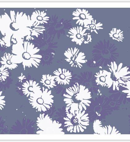 Daisies (white & purple) Sticker