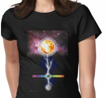 sun earth moon Womens Fitted T-Shirt