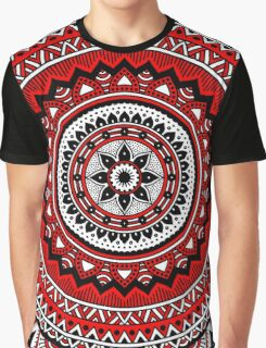 Red and black mandala Graphic T-Shirt