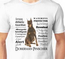 Red Doberman Traits Unisex T-Shirt
