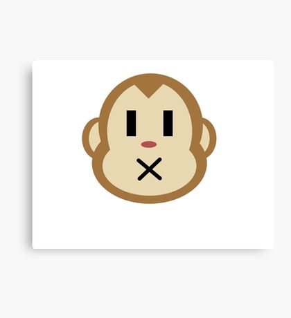 Monkey Closed Mouth Canvas Print