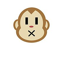 Monkey Closed Mouth Photographic Print
