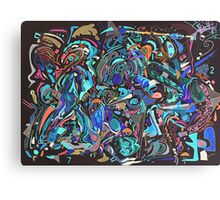 Shovelling the funk - REVERSI Canvas Print
