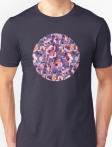 May Afternoon - a watercolor floral in purple and peach Unisex T-Shirt