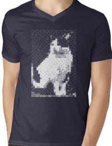 Domino, the Black & White Cat Mens V-Neck T-Shirt