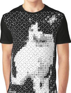 Domino, the Black & White Cat Graphic T-Shirt