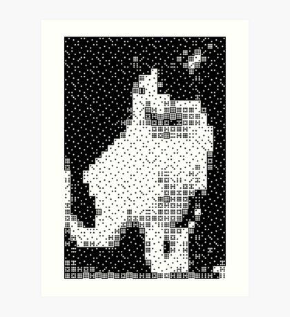 Domino, the Black & White Cat Art Print