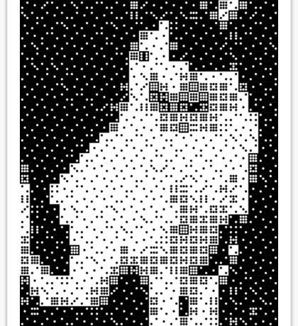 Domino, the Black & White Cat Sticker
