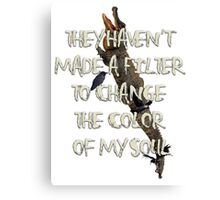 They Haven't  Made A Filter  To Change  The Color  Of My Soul Canvas Print