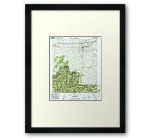 USGS TOPO Map Alabama AL Moulton 304610 2000 24000 Framed Print