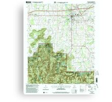 USGS TOPO Map Alabama AL Moulton 304610 2000 24000 Canvas Print