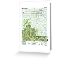 USGS TOPO Map Alabama AL Moulton 304610 2000 24000 Greeting Card