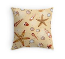 Seashell Treasure Throw Pillow