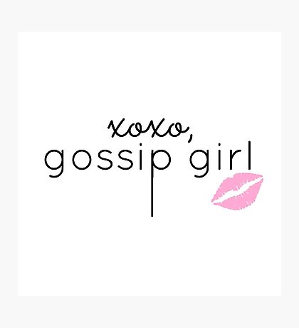 Gossip Girl design Photographic Print
