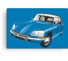 Citroën DS blue Canvas Print