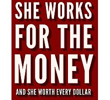 Beyoncé - Lemonade - 6 Inch - She Works For The Money Photographic Print