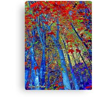 Walk In The Woods Abstract Canvas Print