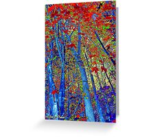 Walk In The Woods Abstract Greeting Card