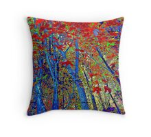Walk In The Woods Abstract Throw Pillow