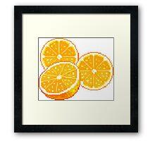 Pixel Oranges Framed Print