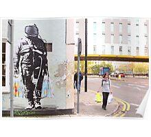 Urban Spaceman - SQPR - Stokes Croft - Bristol Poster