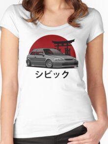 Civic EK (black) Women's Fitted Scoop T-Shirt