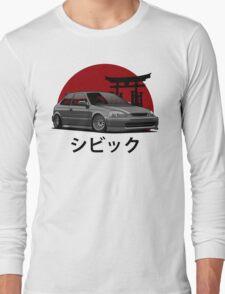 Civic EK (black) Long Sleeve T-Shirt