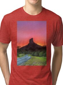 The Road to Mt Coonowrin - Glasshouse Mountains Qld Australia Tri-blend T-Shirt