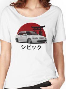 Civic EK (white) Women's Relaxed Fit T-Shirt
