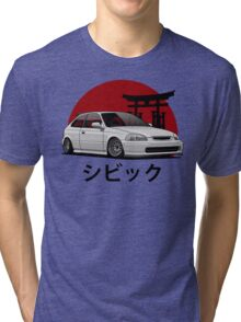 Civic EK (white) Tri-blend T-Shirt