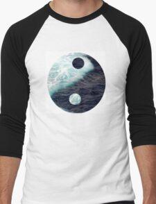 Sea Yin Yang Men's Baseball ¾ T-Shirt