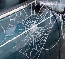 early morning cobweb Sticker