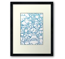 Ghibli Blue Design Framed Print