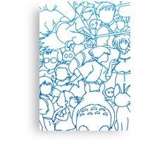 Ghibli Blue Design Canvas Print